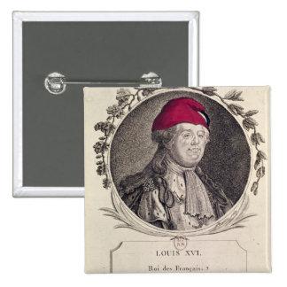 Louis XVI  wearing a phrygian bonnet Pinback Button