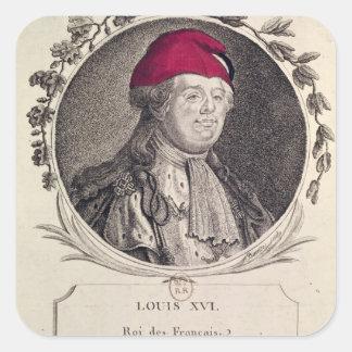 Louis XVI  wearing a phrygian bonnet Square Sticker