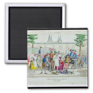 Louis XVI y su familia llevados al templo Imán Cuadrado