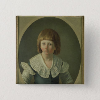 Louis XVII  aged 8, at the Temple, 1793 Pinback Button