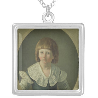 Louis XVII  aged 8, at the Temple, 1793 Silver Plated Necklace