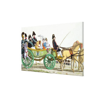 Louis XVIII  and his Family Canvas Print