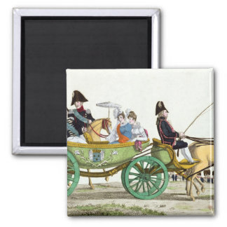 Louis XVIII  and his Family 2 Inch Square Magnet