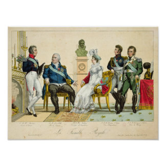 Louis XVIII  and his Family Poster