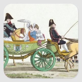 Louis XVIII  and his Family Square Sticker