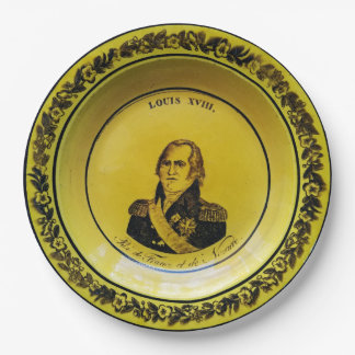 Louis XVIII France Paper Plate