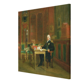 Louis XVIII  in his Study at the Tuileries Canvas Print