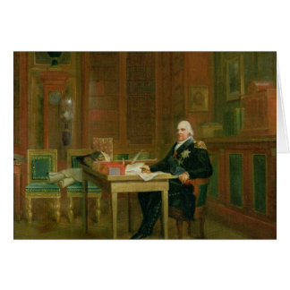Louis XVIII  in his Study at the Tuileries Card