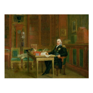 Louis XVIII  in his Study at the Tuileries Post Card