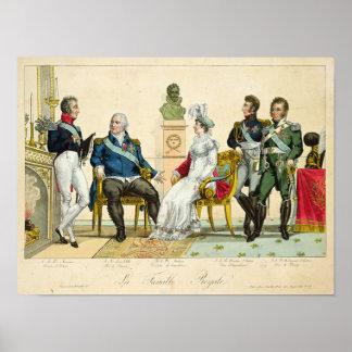 Louis XVIII y su familia Póster