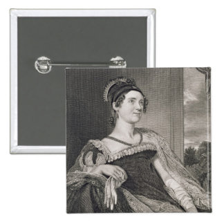 Louisa Catherine Adams (1775-1852) engraved by G.F 2 Inch Square Button