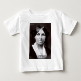 Louisa May Alcott 2 Flints Love Quote Cards & Gift Baby T-Shirt