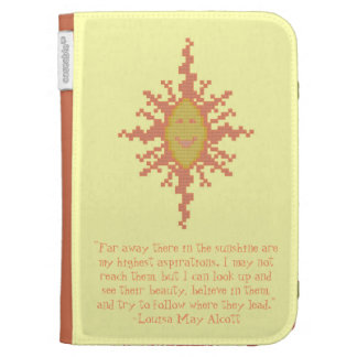 Louisa May Alcott Aspiration Quote Kindle Case