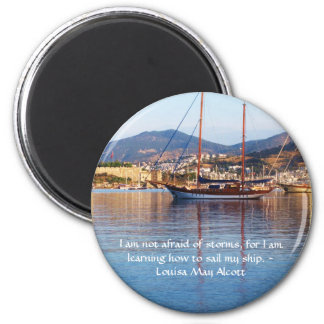 Louisa May Alcott inspirational QUOTE 2 Inch Round Magnet