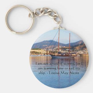 Louisa May Alcott inspirational QUOTE Keychain