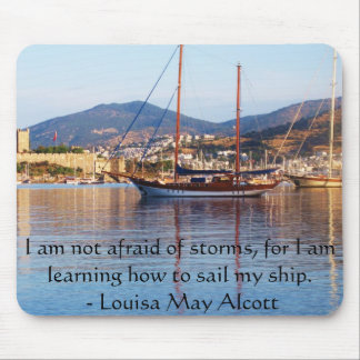 Louisa May Alcott inspirational QUOTE Mouse Pad