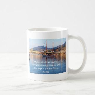 Louisa May Alcott inspirational QUOTE Mugs