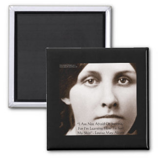 Louisa May Alcott Learning To Sail Wisdom Gifts Magnets