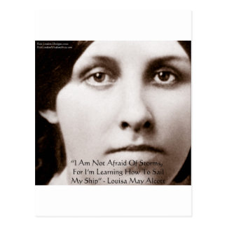 """Louisa May Alcott """"Learning To Sail"""" Wisdom Gifts Postcard"""