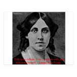 """Louisa May Alcott """"Life Is My College"""" Quote Gifts Postcards"""