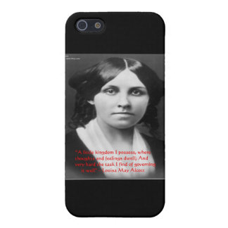 """Louisa May Alcott """"Little Kingdom"""" Wisdom Gifts Case For iPhone SE/5/5s"""