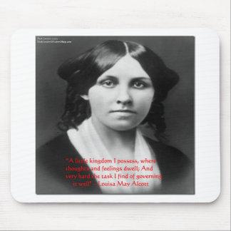 """Louisa May Alcott """"Little Kingdom"""" Wisdom Gifts Mousepad"""