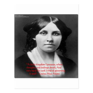 """Louisa May Alcott """"Little Kingdom"""" Wisdom Gifts Postcard"""