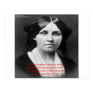 "Louisa May Alcott ""Little Kingdom"" Wisdom Gifts Postcard"