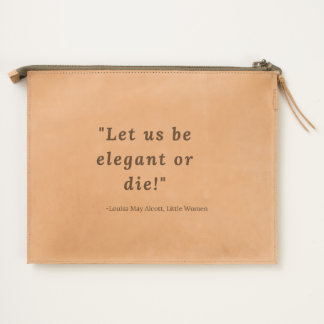 Louisa May Alcott, Little Women Quote Travel Pouch