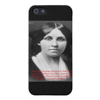 """Louisa May Alcott """"Money Evil"""" Wisdom Quote Gifts iPhone SE/5/5s Cover"""
