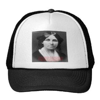 "Louisa May Alcott ""Money Evil"" Wisdom Quote Gifts Trucker Hat"