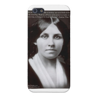 """Louisa May Alcott & """"Purpose/Dream"""" Quote Gifts Cover For iPhone SE/5/5s"""