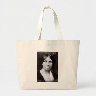 "Louisa May Alcott & ""Purpose/Dream"" Quote Gifts Large Tote Bag"