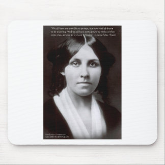 "Louisa May Alcott & ""Purpose/Dream"" Quote Gifts Mouse Pad"