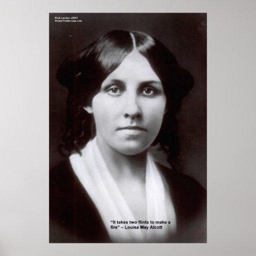 Louisa puede Alcott 2 posters de la cita del amor