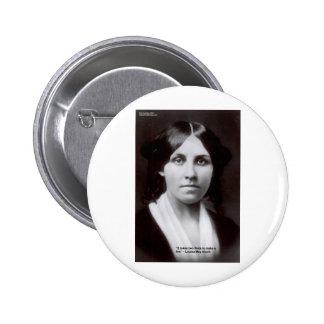 Louisa puede Alcott 2 tarjetas y regalos de la cit Pin Redondo De 2 Pulgadas