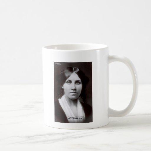 Louisa puede Alcott 2 tarjetas y regalos de la cit Taza Básica Blanca