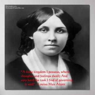 Louisa puede Alcott la cita Po de la sabiduría de  Posters