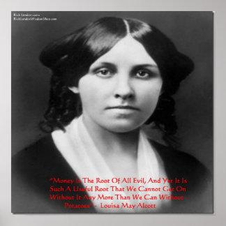 """Louisa puede Alcott """"raíz del dinero"""" de la sabidu Impresiones"""