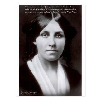 Louisa puede Alcott y los regalos de la cita del Tarjetas Postales