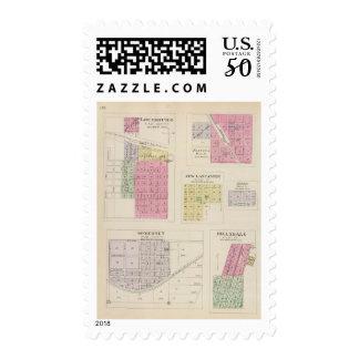 Louisburg, Somerset, Fontana, Kansas Postage