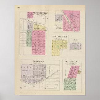 Louisburg, Somerset, Fontana, Kansas Póster