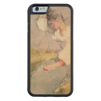Louise, a Breton Girl (w/c on paper) Carved® Maple iPhone 6 Bumper Case