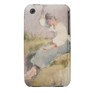 Louise, a Breton Girl (w/c on paper) iPhone 3 Cover