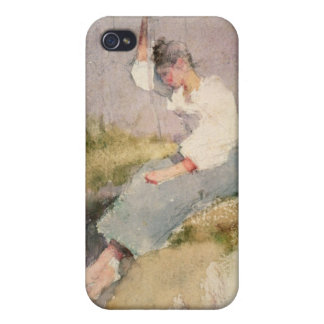 Louise, a Breton Girl (w/c on paper) iPhone 4/4S Case