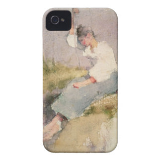 Louise, a Breton Girl (w/c on paper) iPhone 4 Cover