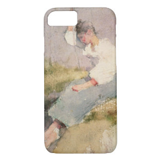 Louise, a Breton Girl (w/c on paper) iPhone 7 Case