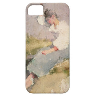 Louise, a Breton Girl (w/c on paper) iPhone SE/5/5s Case
