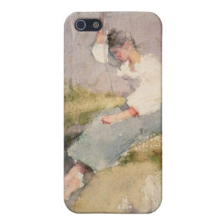 Louise, a Breton Girl (w/c on paper) iPhone SE/5/5s Cover