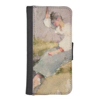 Louise, a Breton Girl (w/c on paper) iPhone SE/5/5s Wallet Case